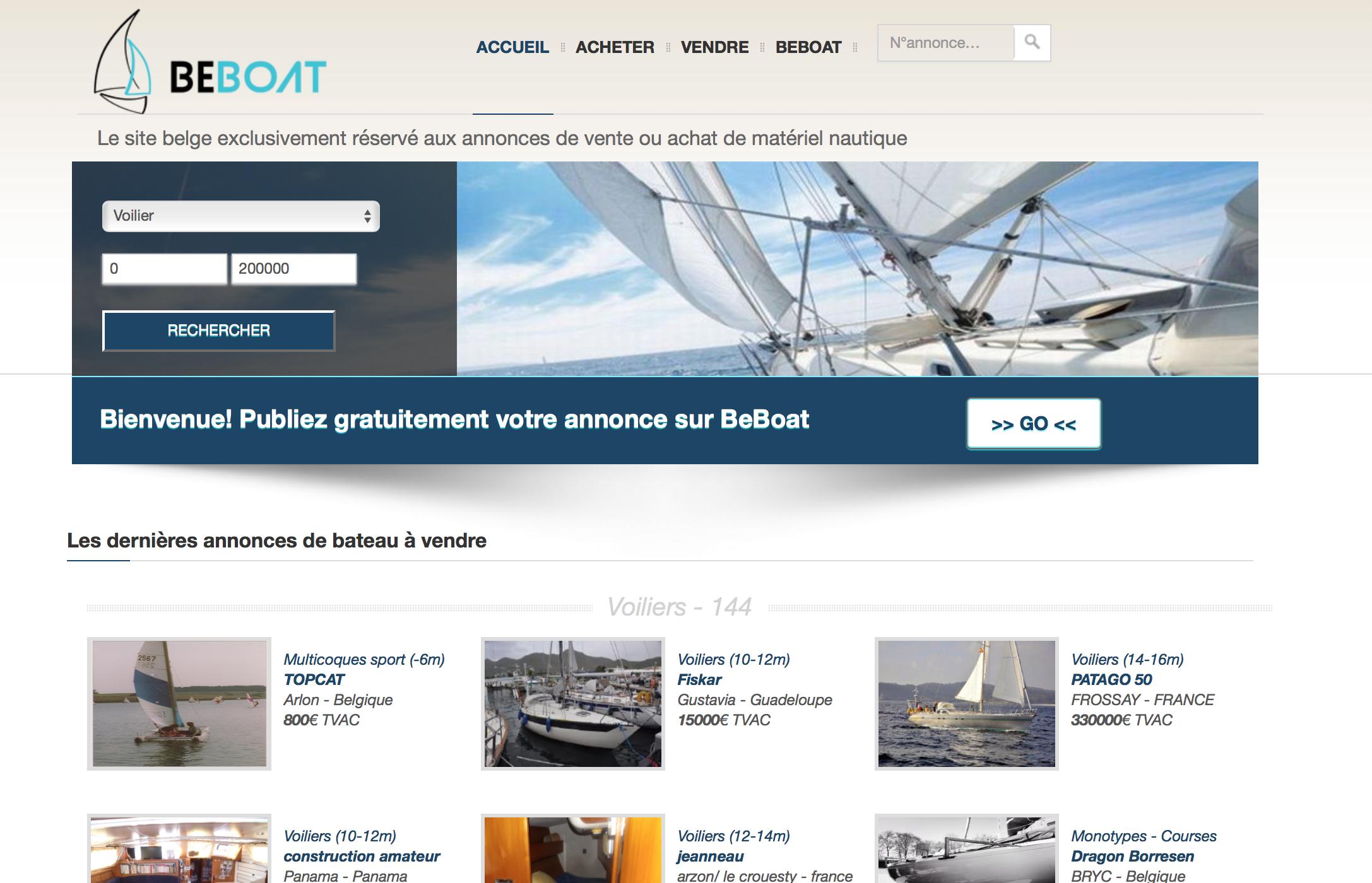 Beboat - gestionnaire d'annonces