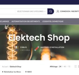 Elektech – Matériel électrique et luminaires